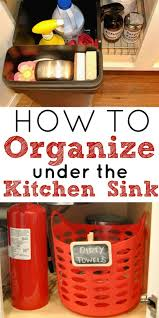 how to organize the kitchen sink simple made pretty