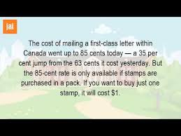 How Much Does It Cost To Mail A Letter In Canada
