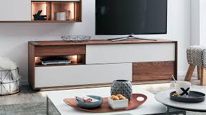 interliving esszimmer serie 5602 lowboard mit beleuchtung colorado nussbaum lichtgrauer lack drei schubladen