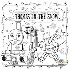 Thomas The Train Christmas Coloring Pages