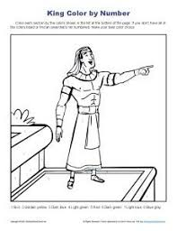 Joseph Helped Pharaoh Bible Story Color By Number Page