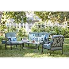 Garden Treasure Patio Furniture by Garden Treasures Cascade Creek 4 Piece Conversation Set Lowe U0027s