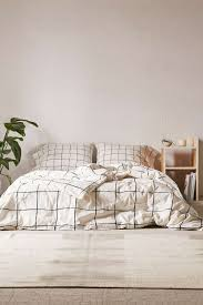Room Decor Wonky Grid Duvet Cover