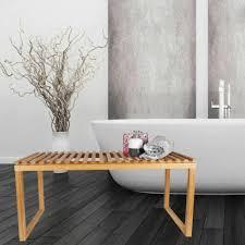 möbel 90 cm bambus sitzbank natur holz badezimmer bank