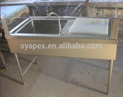 apex supermarket normal stainless steel fish cleaning table fish