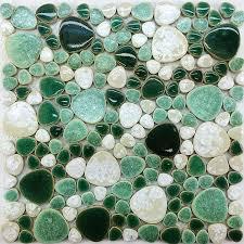 pebble tile mosaic porcelain pebble tile ppmt051 bathroom wall