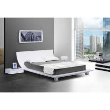 story white platform eastern king bed 2 nightstands