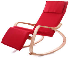 Solid Wood Rocking Chair, Recliners Lounge Chairs Nap Chair Folding ...