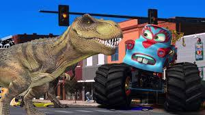 100 Dinosaur Monster Truck S Cartoons For Children Vs S