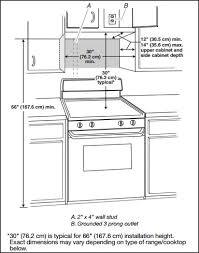 Standard Kitchen Overhead Cabinet Depth by Best 25 Above Range Microwave Ideas On Pinterest U Shaped