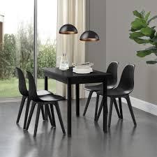 en casa 6x design stühle schwarz esszimmer stuhl kunststoff