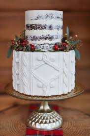 Rustic Cake With Cable Knit Detailing And Berries By The Giraffe