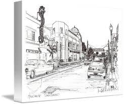 Drawing Of Hillcrest San Diego California By RD Riccoboni