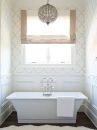 Modern Chandelier Over Bathtub by Linear Crystal Chandelier Over Vintage Tub Cottage Bathroom