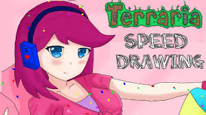 Terraria Chair And Table by Terraria Speed Drawing Party Youtube