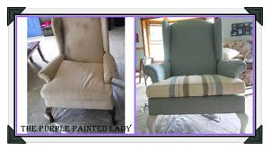 Using Chalk Paint® To Paint Your Couch Or Wing Back Chair (Fabric Or ... Sure Fit Cotton Duck Folding Chair Slipcover Wayfair Custom Slipcovers By Shelley Floral Wingback Chair With Boxpleat What Is Upholstery And How Do You Choose The Best Fabric For Your Bedroom Astonishing Wing Recliner For Elegant Home In Buffalo Check The Maker Chairs Redoubtable With Arms Magnificent Vintage Duralee Linen Blue White 2019 To Reupholster A A Bystep Tutorial Guide Amazoncom Tailor Microsuede Fniture Ikea Sofa Cover Couch Comfort Works