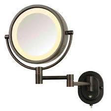 makeup mirrors bathroom the home depot throughout lighted wall