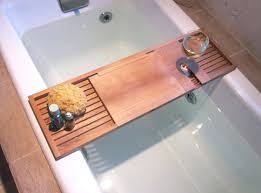 wood bathtub caddy with reading rack bath caddy reading rack