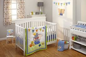 amazon com disney dumbo 3 piece crib bedding set green blue baby