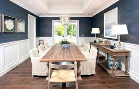Blue Dining Bench Exquisite Cottage Room Showcases A Beautiful Wood And Concrete