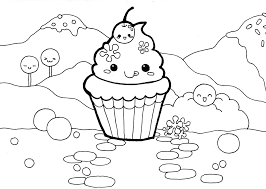 Here is the same drawing with the cupcake outlined It municates the subject much better