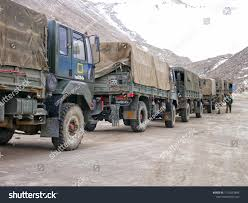 100 Rock Trucks Indian Military Convoy Park On Stock Photo Edit Now