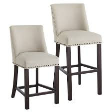 Black Leather Bar Stools by Kitchen Cushioned Bar Chairs With Aluminum Bar Stools Also Wood
