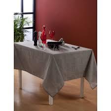 nappe en tissu ronde 150 cm effet tissage gris pas cher
