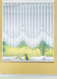 blumenfenster store gleichmäßig gebogt mit faltenband