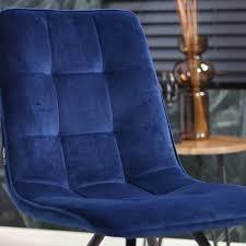 bronx71 esszimmerstuhl samt modern blau
