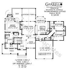 Breckenridge Cottage House Plan 08132 1st Floor