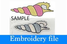 100 Sea Shell Design Embroidery 251x085