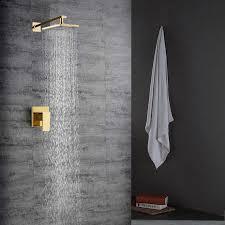 regendusche unterputz gold im badezimmer