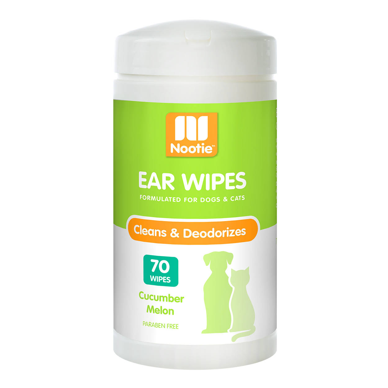 Nootie Ear Wipes, Cucumber Melon, 70 Count