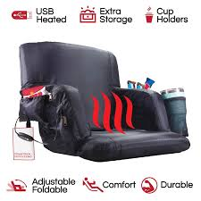 The Hot Seat, Heated Stadium Bleacher Seat, Reclining Back And Arm Support,  Thick Cushion, 4 Storage Pockets Plus Cup Holder, Extra Wide Feature, ... Recling Stadium Seat Portable Strong Padded Hitorhike For Bleachers Or Benches Chair With Cushion Back And Armrest Support Pnic Time Oniva Navy Recreation Recliner Fayetteville Multiuse Adjustable Rio Bleacher Boss Pal Green Folding Armrests 7 Best Seats With Arms 2017 The 5 Ranked Product Reviews Sportneer Chairs 1 Pack Black Wide 6 Positions Carry Straps By Hecomplete Khomo Gear And Bench Soft Sided