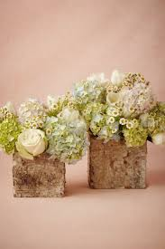 Natural Rustic Country Wedding Flowers Matched With Lovely White Roses And Coral Arrangements In Wooden Vase Design
