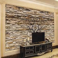 custom foto tapete 3d stein wand stamm tapete wohnzimmer sofa tv hintergrund wandmalereien tapete papel de parede 3d