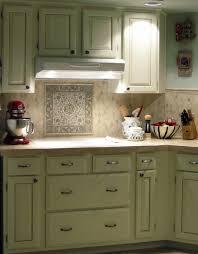 l shape kitchen decoration using light green glass tile modern