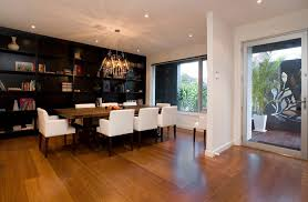 Melbourne Modern Dining Room Chandeliers With Home Stagers Light Wood Table