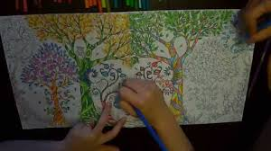 Enchanted Forest Coloring Book 9 Symbols A Colouring Time Lapse