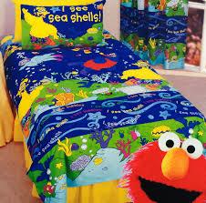 Elmo Toddler Bed Set by A Sesame Street Bedroom Theme Kids Bedding Dreams