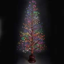 Fiber Optic Christmas Trees Canada by The Color Changing Twinkling Light Tree Hammacher Schlemmer