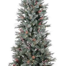 7 Frosted Berry Pine Christmas Tree