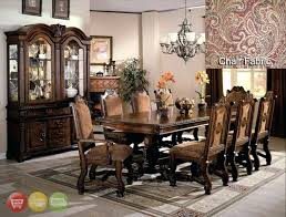 China Cabinet Small Space Dining Room Sets With China Collection