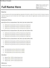 Examples Of Free Resume Templates Freeresumetemplates