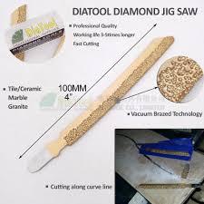 diatool 4pcs 4 jig saw blades for concrete