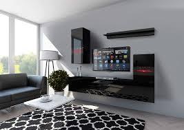 möbel 1a wohnschränke modernes wohnzimmer wohnwände front