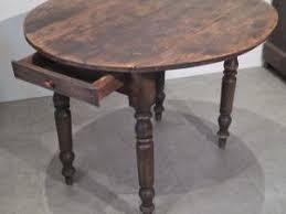 table de cuisine ancienne en bois ancienne table ronde bois a rabats cuisine bistrot provençal a