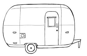Airstream Caravan Clipart