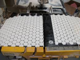 creative tile and marble learning center installing hexagonal